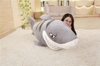 huge plush fiercely gray shark toy big stuffed undersea world shark doll gift about 150cm