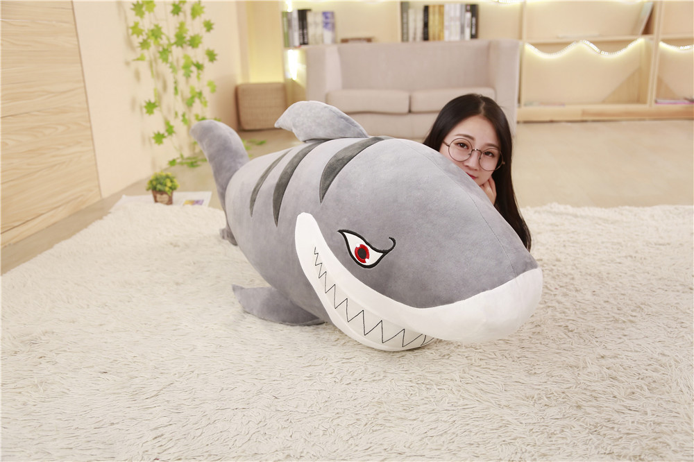 huge plush fiercely gray shark toy big stuffed undersea world shark doll gift about 150cm bloomingville блюдо