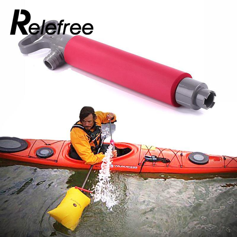 Relefree 46cm Kayak Hand Pump Floating Hand Bilge Pump For Kayak Rescue Canoe Accessories Watersport Tool Accessory насос ручной hi output hand pump 30 см intex 68612