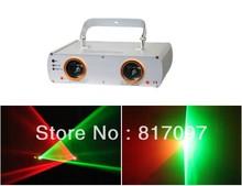 140mW rojo verde 2 lentes show laser projector dj laser luces discoteca iluminacion interior sonido profesional luces discoteca