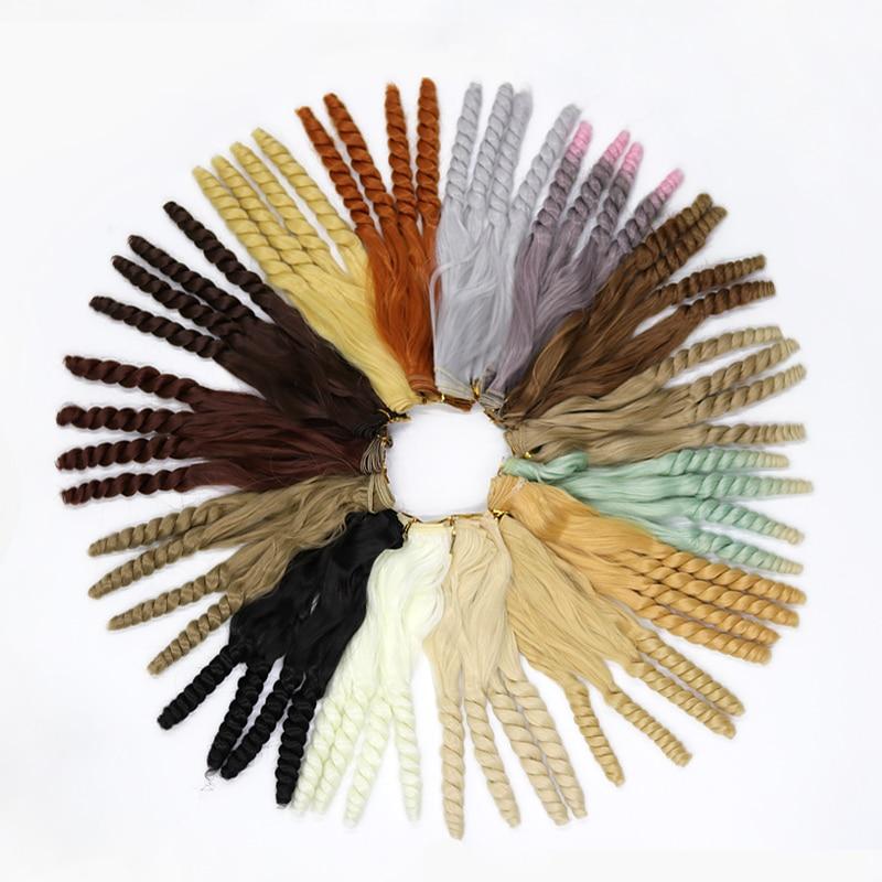 Msiredoll Bjd Wig Accessories 1piece 20*100CM Doll Hair For 1/3 1/4 1/6 1/12  Curly Doll Hair Bjd Wig Diy Free Shipping