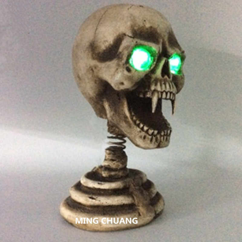 Кошмар до Рождества статуя Джек Скеллингтон бюст клоун Чайка с светодиодный свет Резиновая фигурка героя игрушка D357