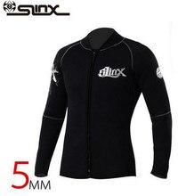 SLINX 5mm Neoprene Long Sleeve Unisex Wetsuit Jacket Scuba Diving Wet Suit Surfing Warm Bodysuit Swimwear Diving Equipment