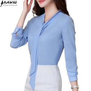 Image 3 - Naviuใหม่แฟชั่นผู้หญิงเสื้อและเสื้อสำนักงานเลดี้แขนยาวเสื้อเสื้อผ้าคุณภาพสูงพลัสขนาดBlusas
