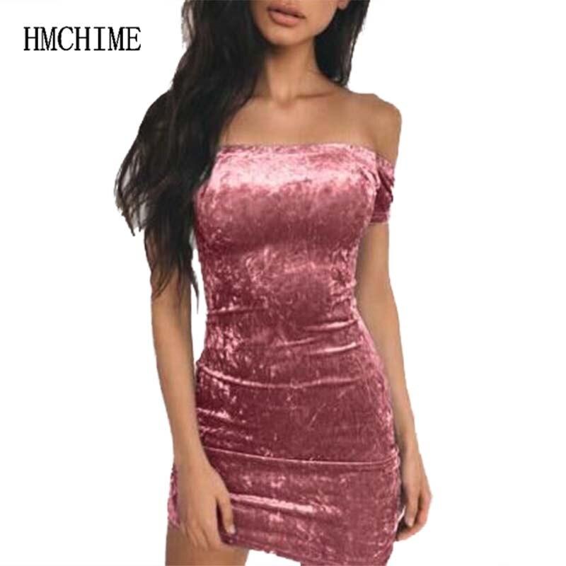 Elastic Fabric Women Braces Dress Off Shoulder Slash Neck Push Up Hips Female Party Dress Sexy Club Backless Vestidos HM1331
