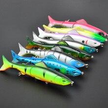 Lots of 8pcs 127mm 17.6g Hard Lures Joint Swimbaits Hooks Fishing Tackles Mixed Colors