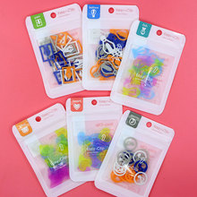20 pack/Lot Cartoon paper clips Total 480 pcs Color bookmarks Fresh Stationery Office School supplies marcadores de pagina FC482