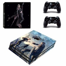 Final Fantasy XV FF15 Decal Skin Sticker For Sony Playstation 4 PS4 Pro promotion Console protective Flim +2Pcs Controller