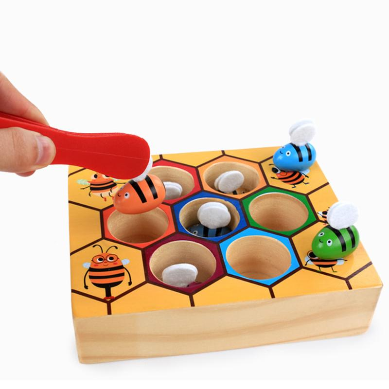 Industrious Little Bees Hive Board Game Family/Party Parents with Children Funny Game Entertainment Made High Quality Wooden