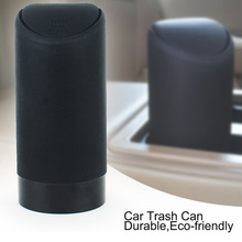 1pc Durable Car Trash Can with Lid Silicone Garbage Dust Bin Storage Barrel Fits Cup Holder in Console or Door