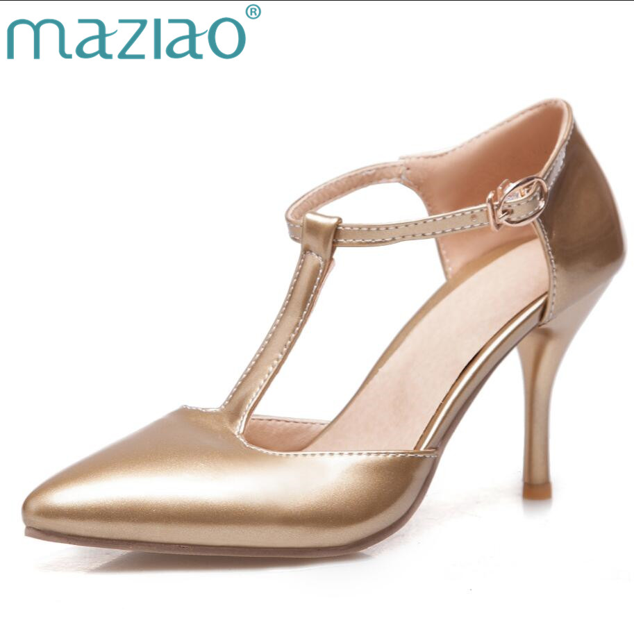MAZIAO Nude Suede High Heels Sandals Women T Ankle Strap Summer Dress Shoes Woman Wedding Shoes Heel Party Heels