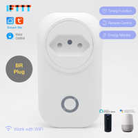 WIFI Smart Brazil Plug Power Monitor 16A BR Smart Socket Wireless Outlet Voice Control Work with Alexa Google home