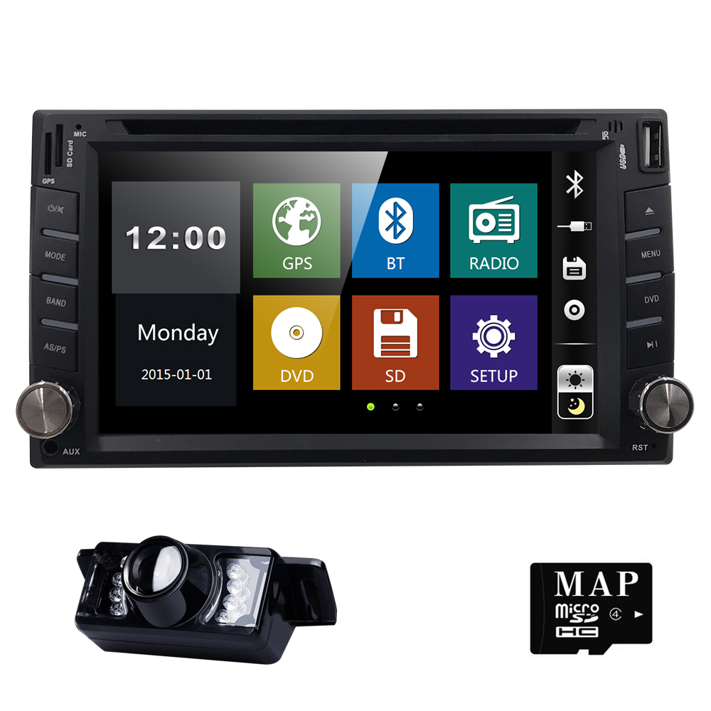6.2 universal Car DVD Player For Nissan Double 2 din Car Radio GPS Navigation In dash Head Unit Car PC Stereo SWC+Free Map Cam joying wiring harness cable 40 pin 5m extension cable for bmw dash dvd gps car radio stereo head unit