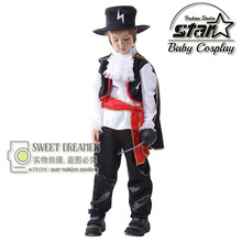 Boys The Flash Superhero Fancy Halloween Costumes Kids Fantasy Comics Movie Carnival Party Zorro Cosplay Gentleman Clothing