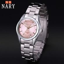 Nary reloj de la nueva manera de las mujeres rhinestone reloj de cuarzo relogio feminino el reloj de las mujeres viste el reloj de moda reloj de mujer