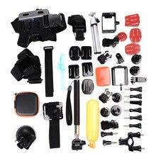 1set 36 in 1 GoPro Accessories Family Kit Go Pro Hero 3 Hero 4 2 3 Accessories Helmet Harness Chest Belt Monopod for SJ4000 Hero