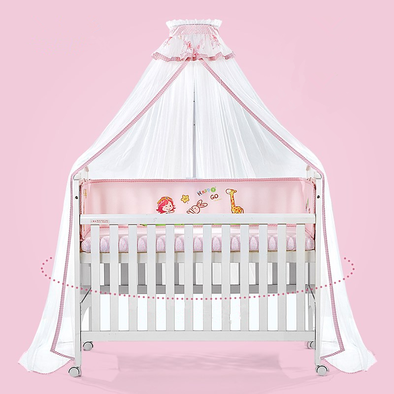 Kids Bedroom Round Baby Crib Bed Mosquito Net, Dome Hanging Bed Canopy Mosquito Net Curtain For Baby, Baby Cot Mosquito Mesh