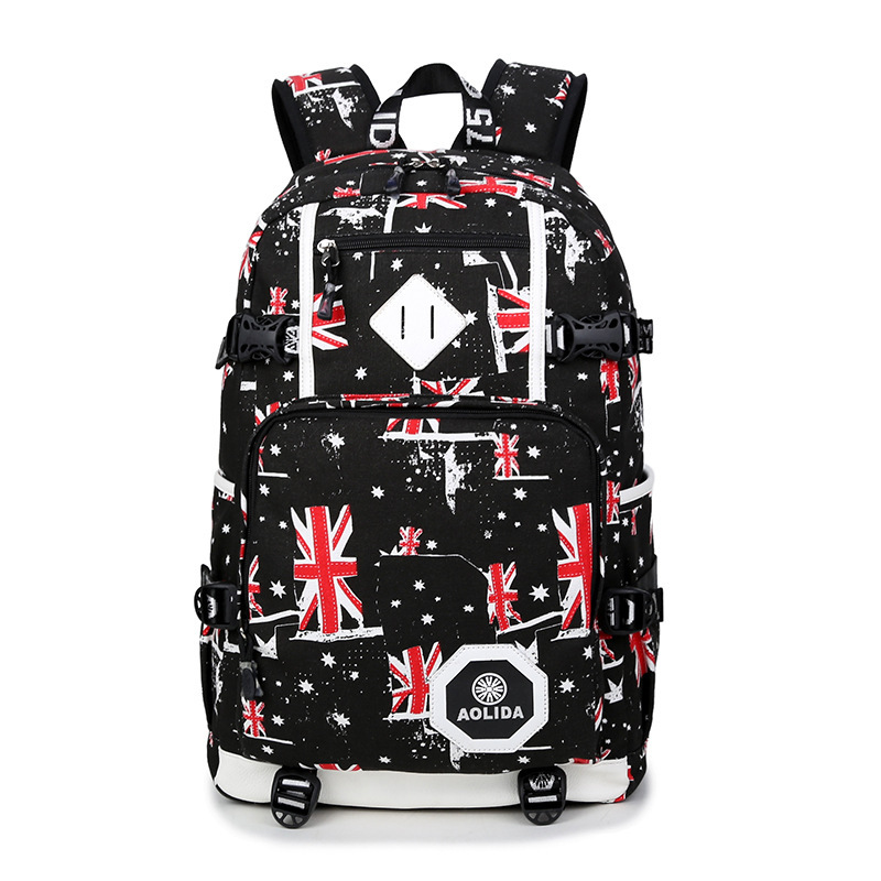 Image 2 - 2018 Men's Backpack Female Camo School Bags For Boy Girl Teenagers High School Middle back pack Large mochila feminina AXB21-in Backpacks from Luggage & Bags
