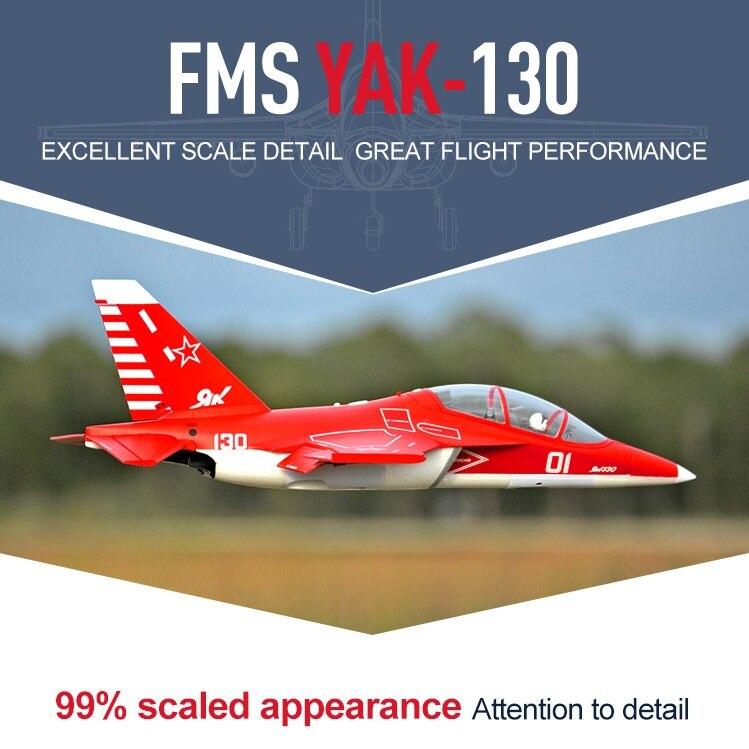FMS RC Avion Yak-130 V2 70mm Ventilateur Soufflant EDF Jet Grand modèle réduit Avion Avion PNP 6 S avec Rétracte Volets Yak130