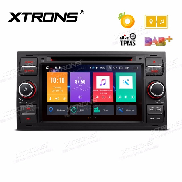 """XTRONS 7 """"Android 8.0 Octa Core Auto Stereo DVD Player Radio GPS Navigation für FORD Focus II C-Max 2005 2006 2007 Fusion Transit"""