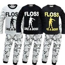2019 Flossin ダンスおかしいエモート青年パジャマ少年少女のため子供 pijamas Gilrs 長袖パジャマパジャマの夜の摩耗 4 12Y