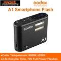 Godox A1 смартфон система вспышки 2 4G Беспроводная вспышка триггер постоянная Светодиодная лампа с батареей для iPhone 6s 7 plus