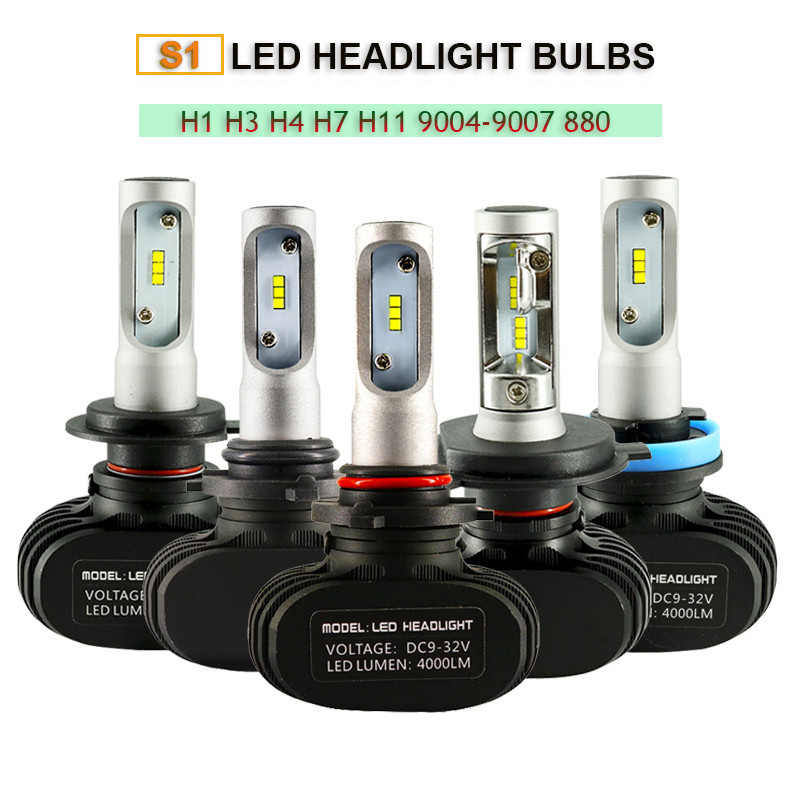 2Pcs 880 9005 HB3 9006 HB4 H11 H4 H7 Led H1 Auto Car Headlight S150W 8000LM 6000K Automobile Bulb All In One CSP Lumileds Lamp