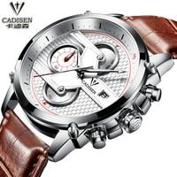 Luxury Brand Quartz Watch Auto Date Cadisen Watch Man Six Pin Chronograph Sport Man Watch Calendar