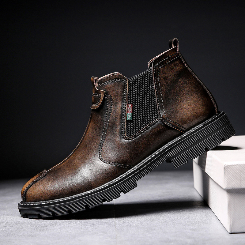 2019 new middle help  mens sets of short boots outdoor casual wear boots2019 new middle help  mens sets of short boots outdoor casual wear boots