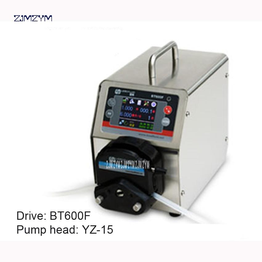 BT600F YZ15 lab High Big Flow Precise Dispensing Intelligent Peristaltic Dosing Pump Water Liquid Industry Pump 0.006~1700ml/min self priming dc 5w dosing pump dosing head for aquarium lab analytical water micro tubing pump 12v peristaltic pump