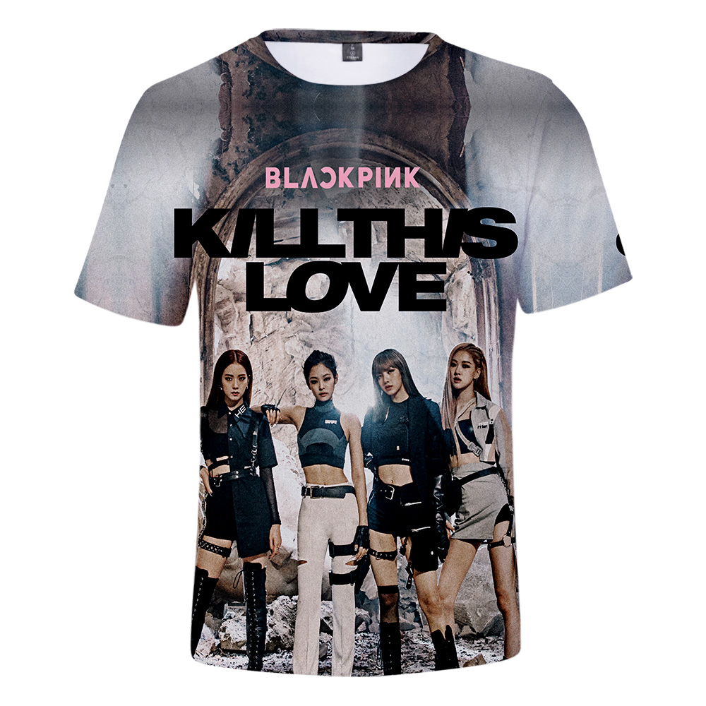 50fd7d48 BLACKPINK Kill This Love Themed 3D Print T-Shirt