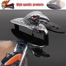 Chrome Eagle Head Ornament Statue For Motorcycle motorbike ATV Front Fender Frames & Fittings Car Bonnet