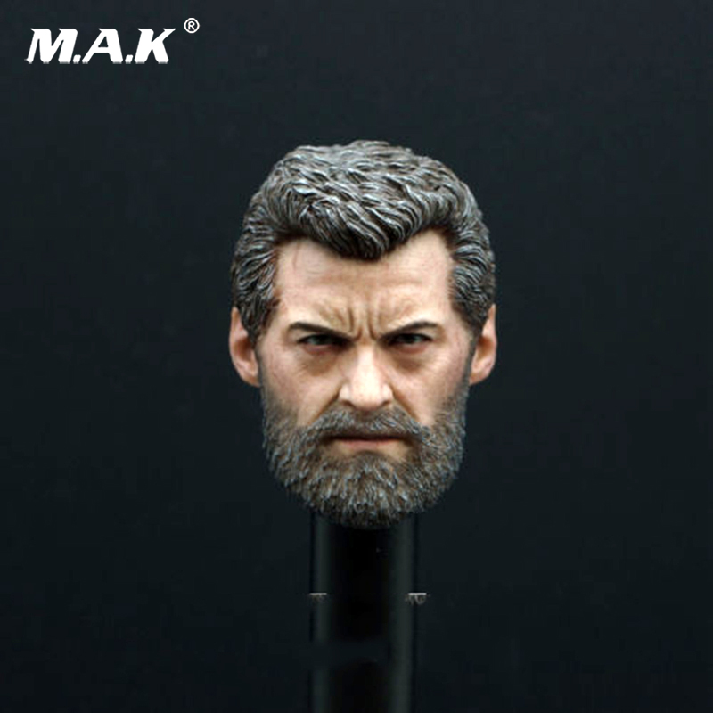 1/6 Wolverine Hugh Jack Carving Old Logan Man Head Sculpt Body F 12 Figure Toys mak custom 1 6 scale hugh jackman head sculpt wolverine male headplay model fit 12kumik body figures