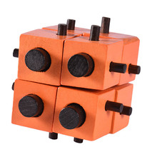 Educational Cube Shaped Wooden Montessori Puzzle