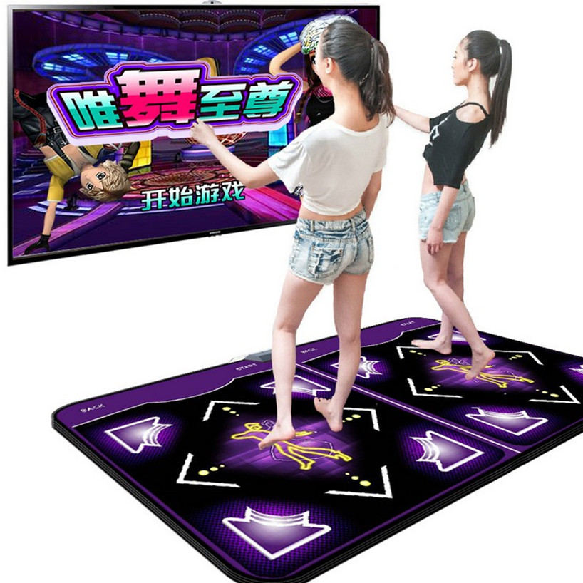 Double dance mat HD TV computer interface dual-thick cut fruit diet somatosensory PK dancing blanket Revolution Game consoles