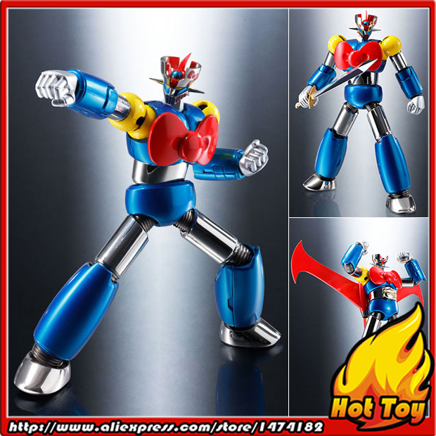 100% Original BANDAI Tamashii Nations Chogokin Action Figure - Mazinger Z (Hello Kitty Color) from Mazinger Z anime mazinger z original bandai tamashii nations super robot chogokin action figure mazinger z year model 2017 limited