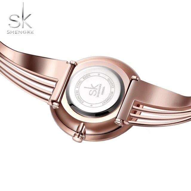 SHENGKE Top Brand Luxury Bracelet Watch SK Clock Women's Watches Fashion Rose Gold Watch Women Watches montre femme reloj mujer