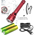 Super Bright 6000Lm Underwater Diving 100m  2x CREE XM-L2 LED Flashlight  Dive Torch Waterproof Light +Charger+18650 battery