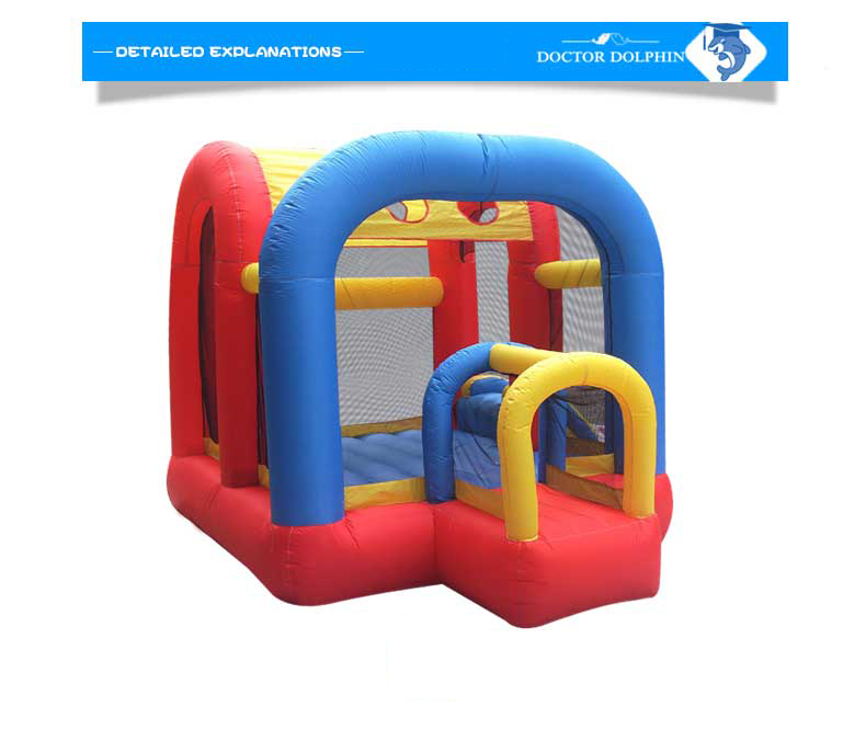 Doctor Dolphin Inflatable Jumping Bouncer  Net Protect Kids Castle