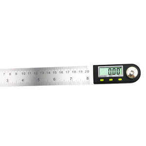 Image 4 - shahe 200 mm Digital Protractor Inclinometer Electron Goniometer Angle Ruler Stainless Steel Digital Level Measuring Tool