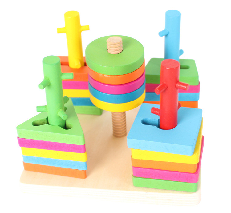 Wooden Tree Track Game Baby Blocks Toys for Children Intelligence Educational Model Building Toy Kids Gifts baby educational wooden toys for children building blocks wood 3 4 5 6 years kids montessori twenty six english letters animal