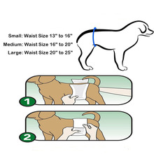 Ohbabyka Durable Male Dog Belly Wrap Male Pet Dog Sanitary Pants Pet Cloth Diaper Reuable Toilets Dog Nappy Pet Panties 2PCS