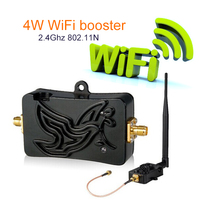 Cheap ! 4W 802.11b/g/n Bluetooth Wifi Wireless Amplifier Router 2.4Ghz WLAN signal booster Signal Booster Antenna wi fi