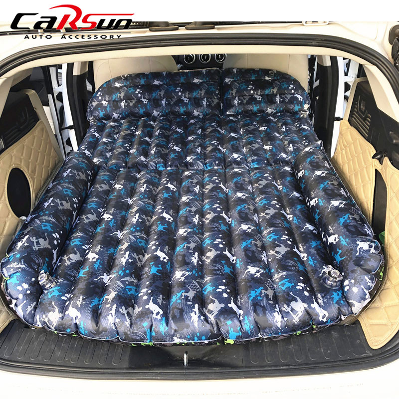 Car Bed 190*119*12.5CM Camping Car Mattress Travel Bed Colchon Inflable Para Auto Accessories For SUV Inflatable Car Mattress image