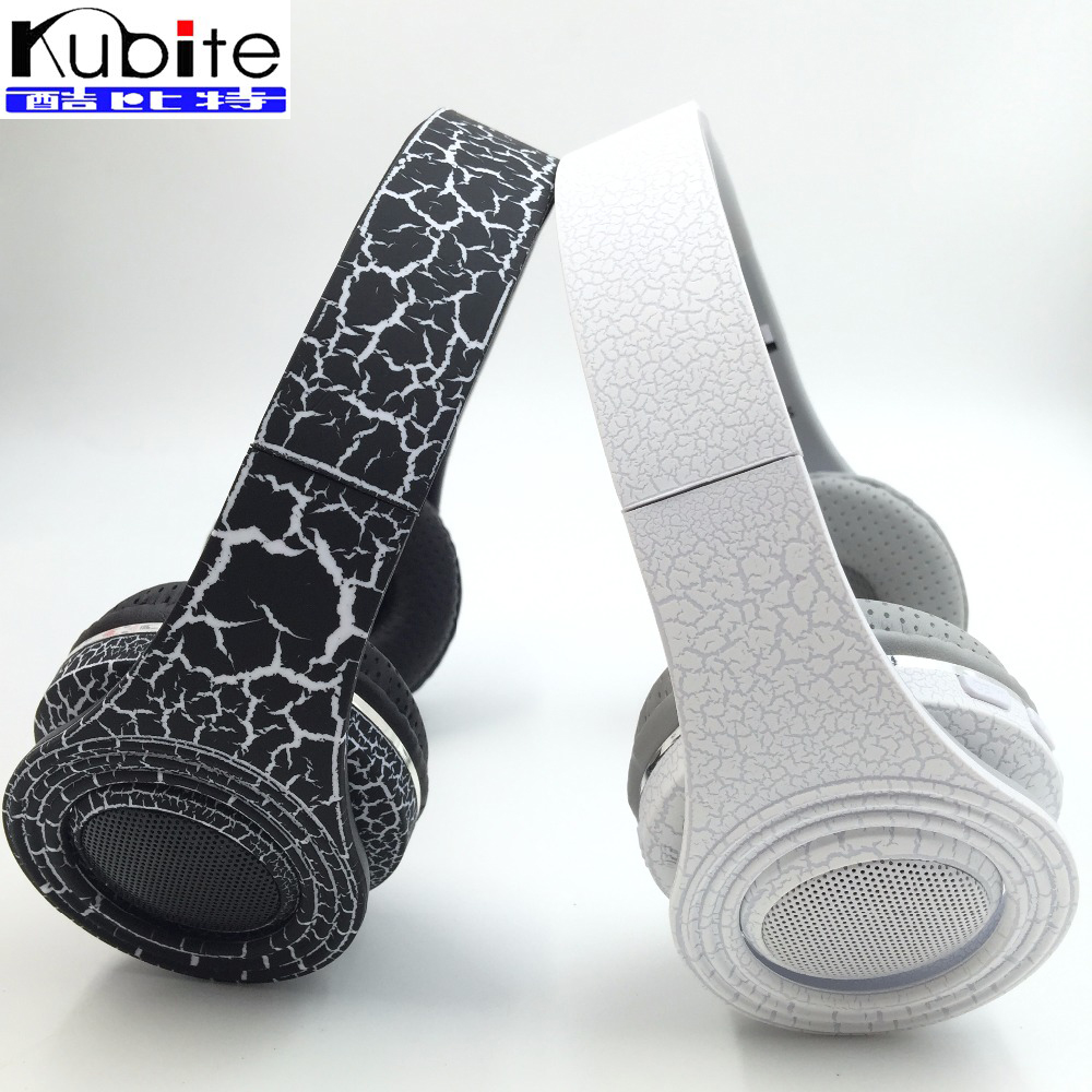 Kubite STN-17 Bluetooth 3.0 Headset Stereo W/ LED Light and Shutter Wireless Headphones Support FM & TF Card & MP3 / MP4