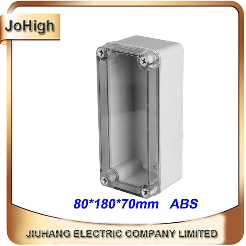 Free Shipping Top Quality PVC Cover ABS body Transparent Cover IP66 Plastic Electronic Enclosures 80*180*70mm free shipping top quality pvc cover abs body ip66 transparent cover plastic distribution box 12 way circuit breaker box