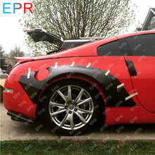 Для Nissan 350Z заднее крыло из стекловолокна широкий обвес автомобиля Стайлинг авто тюнинг часть для 350Z стекловолокно ракета Банни заднее крыло