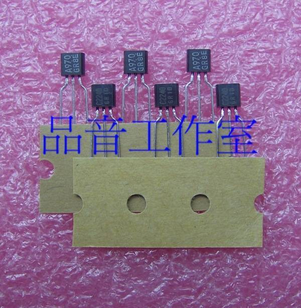 2018 hot sale 10pair 30pair original japan 2SA970 2SC2240 2SA970 2SC2240 taping Audio electronics free shipping in Integrated Circuits from Electronic Components Supplies