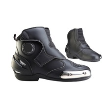 Waterproof Men Adult Motorcycle Racing Race Riding Bike Protective Gear Shoes Boots Black US Size 12 [PA332-PA338]
