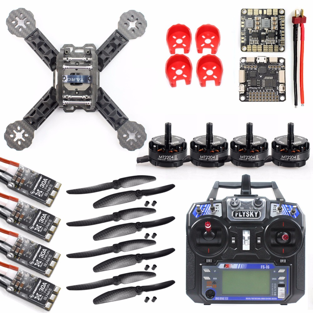 JMT DIY Toys RC FPV Drone Mini Racer Quadcopter 190mm Carbon Fiber Racing Frame Kit With 2.4G FS-i6 Controller